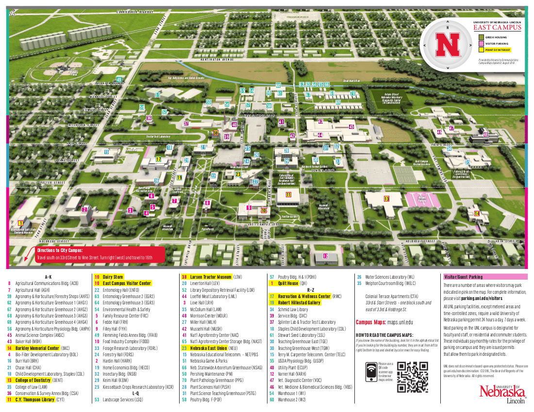 Unl East Campus Map | Fashionevolution